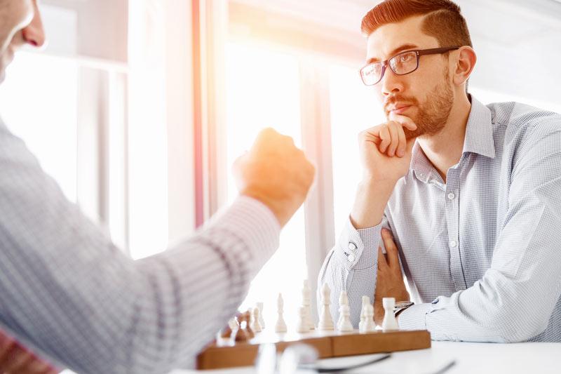 Une partie d'échecs peut durer plusieurs heures