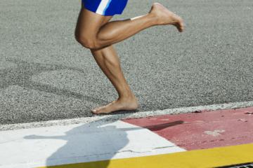La course à pied, pieds-nus