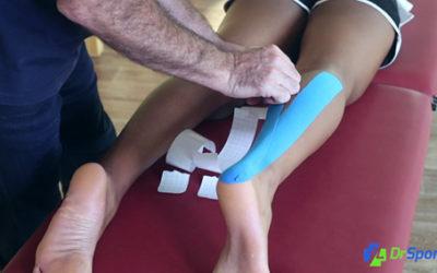 Comment réaliser un kinésio tape pour une inflammation du tendon d'Achille à l'arrière du pied ?