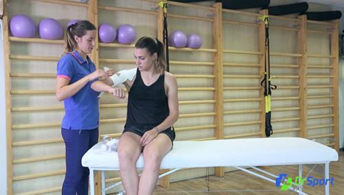 Comment réaliser un strapping pour une entorse acromio claviculaire ?